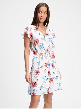 Barevné dámské šaty GAP v-ss fltr slv dress