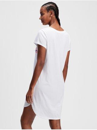 Bílá dámská noční košile GAP v-ff ss