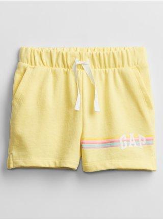 Detské kraťasy GAP Logo print pull-on shorts Žltá