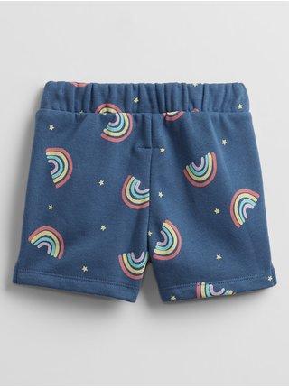 Detské kraťasy GAP Logo print pull-on shorts Modrá