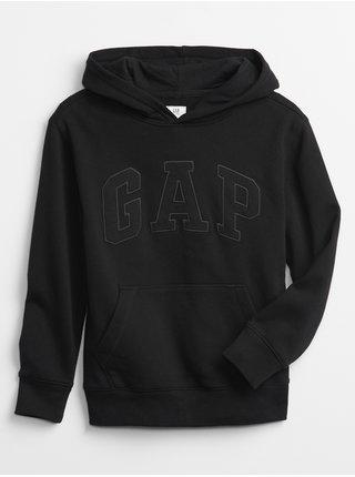 Černá klučičí dětská mikina GAP Logo v-tonal po