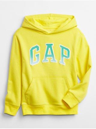 Žlutá klučičí dětská mikina GAP Logo v-spr fshn po