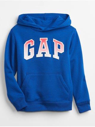 Modrá klučičí dětská mikina GAP Logo v-spr fshn po