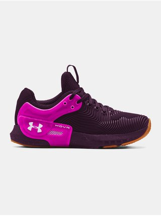 Boty Under Armour W HOVR Apex 2 Gloss - fialová