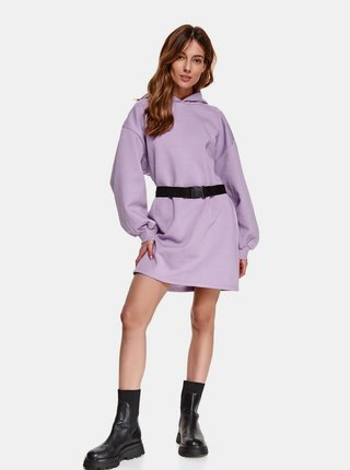 Fialové mikinové šaty s kapucí TOP SECRET