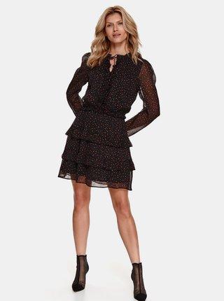 Černé vzorované šaty TOP SECRET