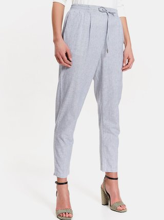 Světle modré zkrácené kalhoty TOP SECRET