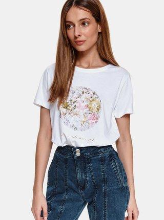Biele tričko s potlačou TOP SECRET