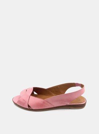 Ružové dámske kožené sandálky WILD