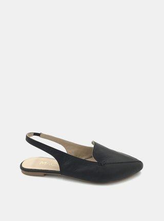 Čierne dámske kožené baleríny WILD