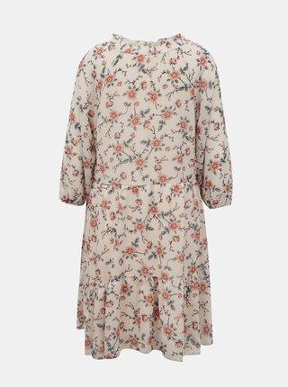 Ružové kvetované voľné šaty Hailys