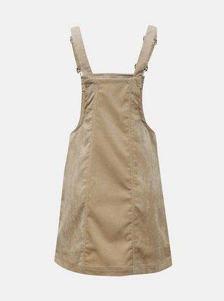 Béžové manšestrové šaty s laclem Hailys