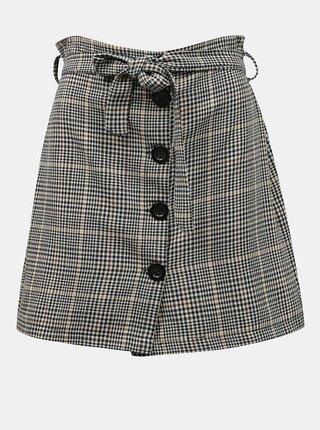 Šedá kockovaná sukňa s gombíkmi Zabaione