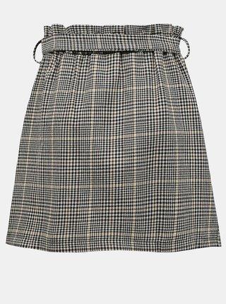 Šedá kostkovaná sukně s knoflíky Zabaione