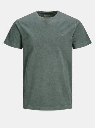 Tmavě zelené tričko Jack & Jones