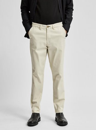 Krémové chino nohavice Selected Homme Miles