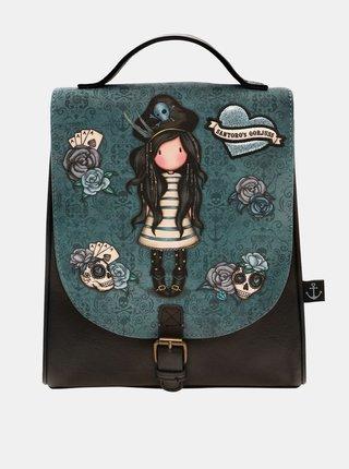 Hnědo-modrý vzorovaný batoh Santoro