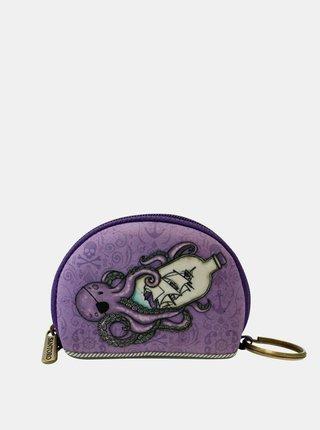 Fialová vzorovaná malá peňaženka Santoro