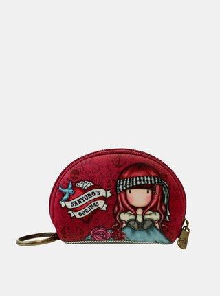 Červená vzorovaná malá peňaženka Santoro