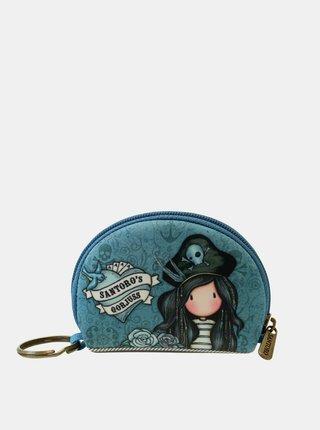 Modrá vzorovaná malá peňaženka Santoro