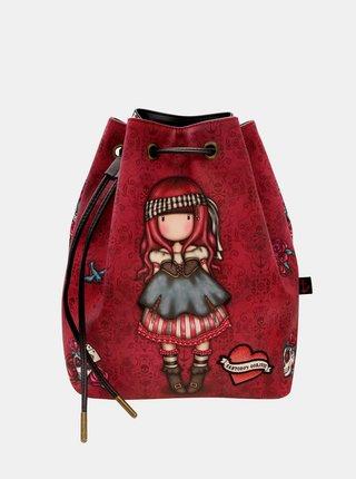 Červený vzorovaný batoh Santoro