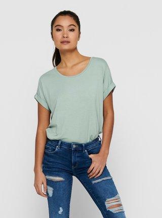 Světle zelené basic tričko ONLY Moster
