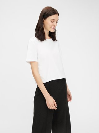 Biely basic crop top Pieces Rina