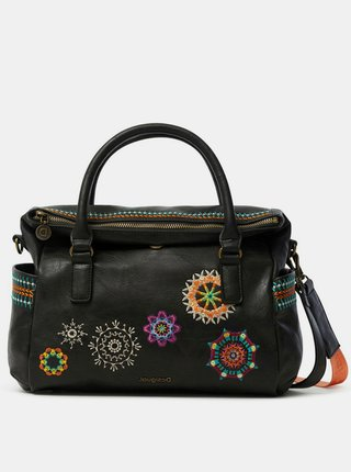 Desigual antracitová kabelka Bols Carlina Loverty