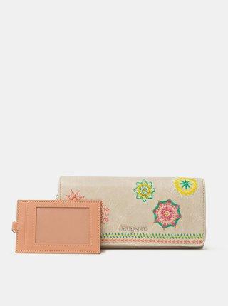 Desigual béžové peňaženka Mone Carlina Mariona