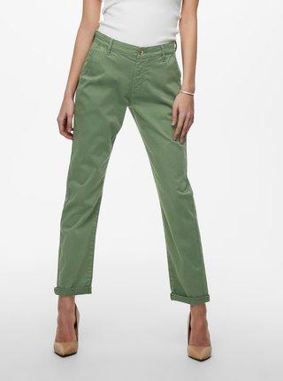Zelené zkrácené kalhoty Jacqueline de Yong Dakota