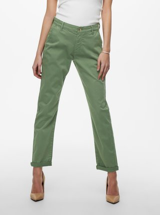 Zelené skrátené nohavice Jacqueline de Yong Dakota