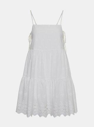 Bílé šaty s madeirou Noisy May Jackie