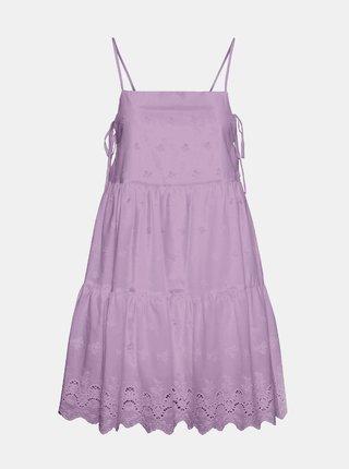 Fialové šaty s madeirou Noisy May Jackie