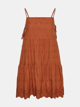 Hnědé šaty s madeirou Noisy May Jackie