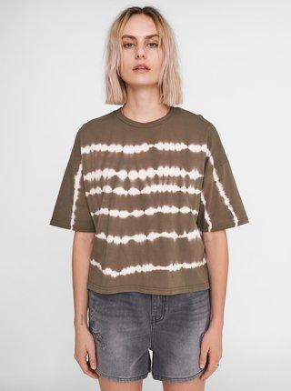 Khaki vzorované volné tričko Noisy May Buster