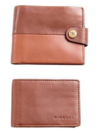Rip Curl SNAP CLIP RFID 2 IN  brown pánská značková peněženka - hnědá