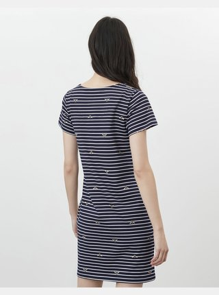 Tmavě modré dámské pruhované šaty Tom Joule