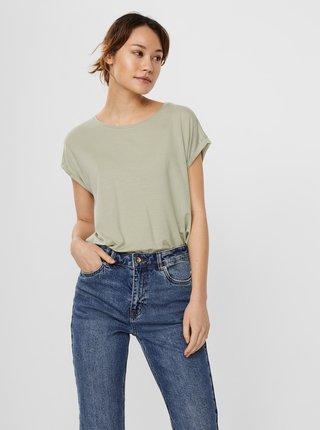 Svetlozelené voľné basic tričko AWARE by VERO MODA Ava