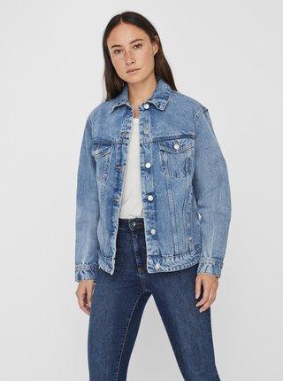 Modrá volná džínová bunda VERO MODA Katrina