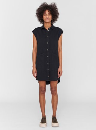 Černé košilové šaty s kapsami Noisy May Alma
