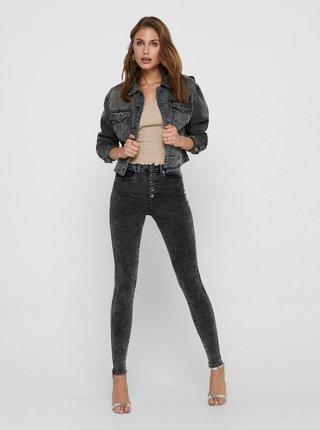 Šedá krátká džínová bunda ONLY Malibu
