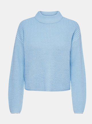 Modrý svetr se stojáčkem Jacqueline de Yong Sister