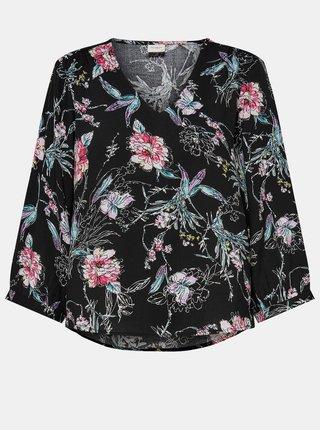 Čierna kvetovaná voľná blúzka Jacqueline de Yong Ross