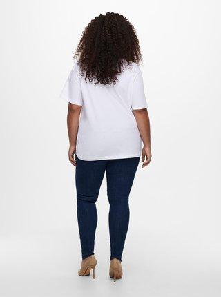 Bílé basic tričko ONLY CARMAKOMA Asta