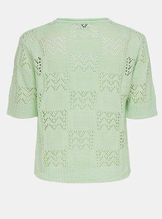 Světle zelený vzorovaný svetrový top Jacqueline de Yong Sofia