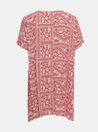 Ružové vzorované šaty ONLY CARMAKOMA