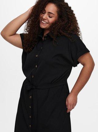 Čierne košeľové šaty ONLY CARMAKOMA Diega