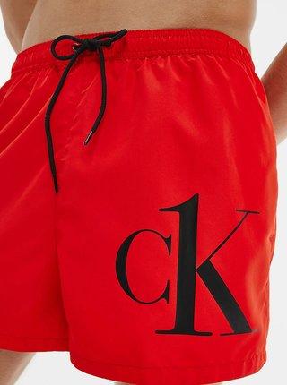 Calvin Klein červené pánské plavky Short Drawstring