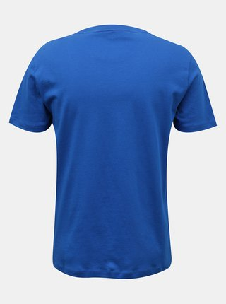 Calvin Klein modré pánske tričko Relaxed Crew Tee