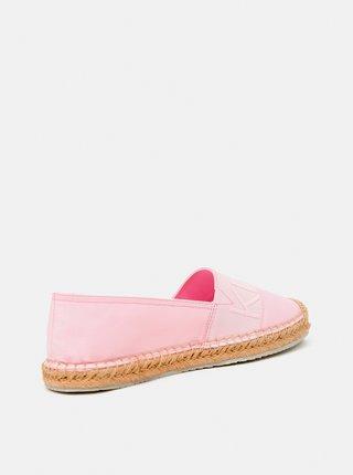 Calvin Klein světle růžové espadrilky Espadrille Roped Toe